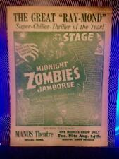 On Stage The Great Ray-Mond Midnight Zombies Jamboree Spook Show Monster Ghost