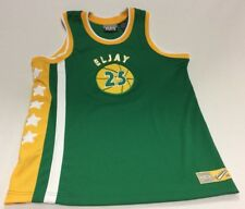 Throwback Classics Basketball Jersey Eljay # 25 - Size 12/14 Green Yellow White
