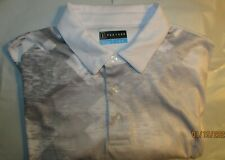"LNC Men's PGA Tour Large L DriFlux Rich Grey & White S/S Shirt ""PGA Golf Logo"" !"