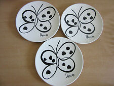 """Set of 3 Butterfly Dream - Vera for Mikasa 7 5/8"""" Salad / Luncheon plates"""