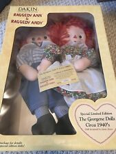 Special Limited Edition Dakin Raggedy Ann & Andy The Georgene Dolls Circa 1940's