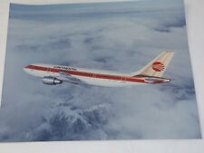 Vintage Continental Airlines A300 Airbus in Air COMPANY COLOR PHOTO 8 x 10""