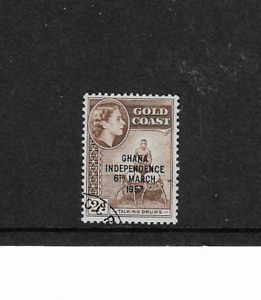 1957 Gold Coast - Overprinted Ghana Independence - Lightly Mounted Mint.