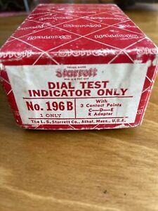 Starrett Dial Test Indicator 196B