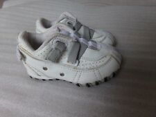 Boys DIESEL Baby Toddler WHITE Leather Canvas Sneakers Tennis Shoes Size 5