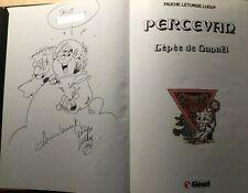 """Luguy: Percevan T3 """"L'épée de Ganaël"""" - rééd. 1989-dédicace nominative de Luguy"""