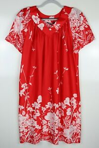 Vintage DiCarlo of California Floral Pattern Satin Nightgown House Dress Slip