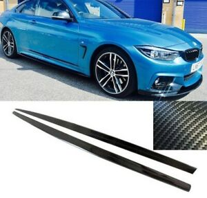 BMW F32 F33 M sport performance side skirts skirt extensions carbon fibre look