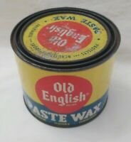 Vintage OLD ENGLISH PASTE WAX Can No 1617  3/4 full  Advertisement Prop RARE