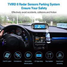 Car LCD Display Dual-Core Black 8 Sensors Reverse Backup Radar Buzzer Alert Kit