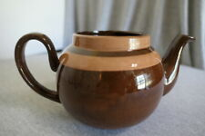 1940's ALB Alcock Lindley Bloor Striped Brown Betty 3 Cup Teapot England No Lid