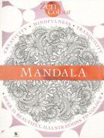 NEW Mandala Colouring Book - Creativity Mindfulness Tranquility Zen >35 Designs