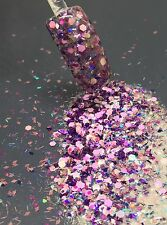 glitter mix acrylic gel nail art    CLARISSA   limited edition