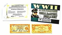WWII Philippines General MacArthurs  5  Pesos Guerilla Money Banknote & Story