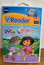 VTECH VREADER DORA THE EXPLORER GAME/STORYBOOK~DORA & THE THREE LITTLE PIGS~NIB