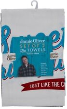 Jamie Oliver Set Of Tea Towels 100% Cotton 'SWEET AND SCRUMPTIOUS' NEW RRP £15