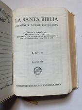 Santa Biblia Reina-valera 1960 Sociedades Biblicas Unidas SBU white Leather VTG