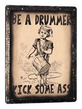 DRUMS kit METAL SIGN VINTAGE style plaque DRUMMER studio wall decorgift art 689