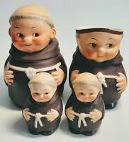 Vintage West Germany Goebel Friar Tuck Monk Figurines 4 Piece Set
