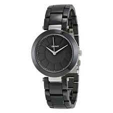 DKNY Stanhope Black Dial Black Ceramic Ladies Watch NY2292