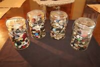 """Jar of Misc Collectible Sewing Craft Buttons 3"""" x 5 1/2 tall Jar"""