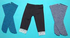 1/6 Doll  LOT of 3  Elastic Leggings for 12'' Kurhn Blythe Doll BJD SD Doll