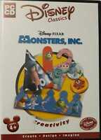 Disney's Monsters, Inc. Creativity PC CD ROM GAMES