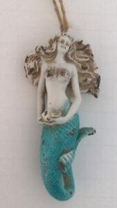 Mermaid Ornament Nautical Resin 5 Inch-Christmas Tree Decoration