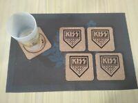KISS ARMY 4 CORK DRINK COASTERS / POSAVASOS DE CORCHO
