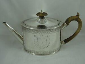 VINTAGE, GEORGE III solid silver TEA POT, 1790, 383gm