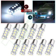 10X 1156 BA15S White Car Truck Trailer Interior Tail LED Light Bulbs 5050 18SMD