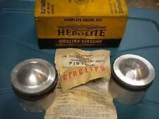 NOS Hepolite Aluminum AJS 650 Twin 72mm .060 Pistons Kit 31CS 31CSR 15036 W15036