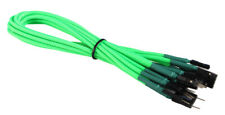Green Front Panel Set HDD LED/PLED/Reset/Power/SW/SPK Extension Cable Braided