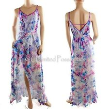 NEW BETTINA LIANO T 70s Inspired Soft Focus Floral Maxi Dress Multi Size 12 Tags