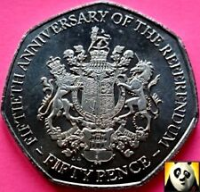 2017 New Realease GIBRALTAR 50p Fifty Pence 50th Anniversary Referendum Coin