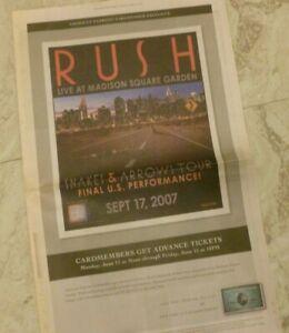 Rush Live Madison Square Garden Snakes Arrows Tour 2007 Neil Peart Lee Lifeson