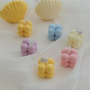1Pc Small Bubble Cube Candle Soy Wax Aromatherapy Scented Candles Home Decor UM