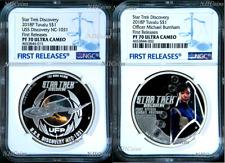 2-COIN Set 2018 Star Trek DISCOVERY USS NCC-1031 Burnham Silver $1 NGC PF70 FR