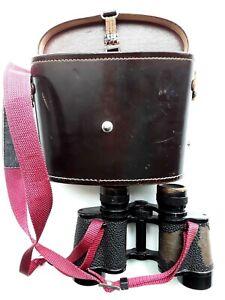 Vtg Binoculars Leitz Wetzlar 8x30 BINUXIT with Original Knapsack Carry Case