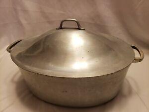 Vintage Super Maid Cookware Aluminum Pot With Lid Dutch Oven Roaster Pan. Cast.