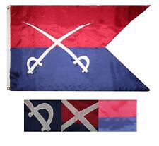 3x5 Embroidered Sewn Custer Guidon Cavalry 300D Nylon Flag 3'x5' Banner 2 Clips