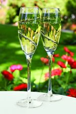 Platinum Swirl Personalized Wedding Toasting Flutes (31825)