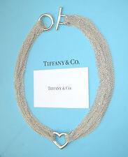Tiffany & Co Argento Sterling dieci RIGA Catena Maglie Cuore Collana Toggle