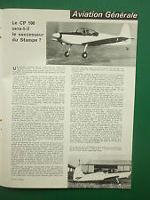 9/1966 ARTICLE 1 PAGE AVIATION GENERALE CP 100 CAARP CP.301 SUPER EMERAUDE