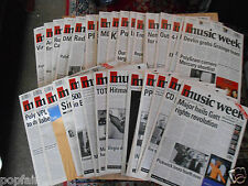 MUSIC WEEK MAGAZINES (50 ISSUES OF 1993) SINGLES ALBUM CHARTS NEW RELEASES 1993