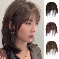 100% Human Hair Clip in Silk Base Topper Hair Piece With 3D Air Bang Hairpiece