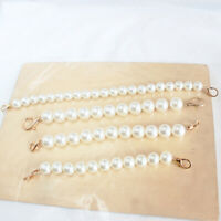 Faux Pearl Beaded Chain For Women Handbag Strap Lady Shoulder Bag Pendant ss