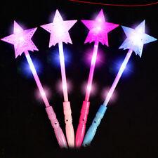 Light Up Flashing Princess Wand LED Fairy Magic Wand Star Sticks Xmas Party Lamp