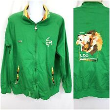 LRG Lifted Research Group Men's Zip Track Jacket Size 3XL Green Embroidery Rasta