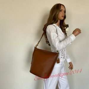 NWT COACH 1941 ARCHIVE DUFFLE SADDLE BROWN LUGGAGE LEATHER SHOULDER BAG 78803